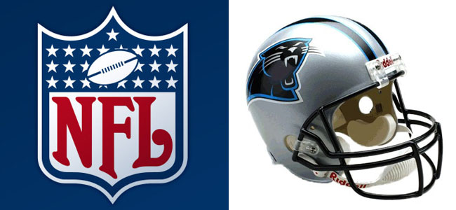 """c8df6c5e9 NFL Carolina Panthers 11-by-17 """"Fan Cave"""" Wood Sign"""